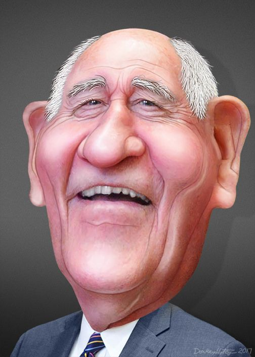 https://flic.kr/p/SJjTgk | Sonny Perdue - Caricature | George Ervin Perdue III, aka Sonny Perdue, was the the 81st Governor of Georgia. Perdue is Donald Trump's  Secretary of Agriculture.  This caricature of Sonny Perdue was adapted from a photo in the public domain from the US Senate.