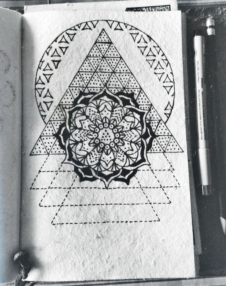 Hand drawn mandalas and sacred geometries