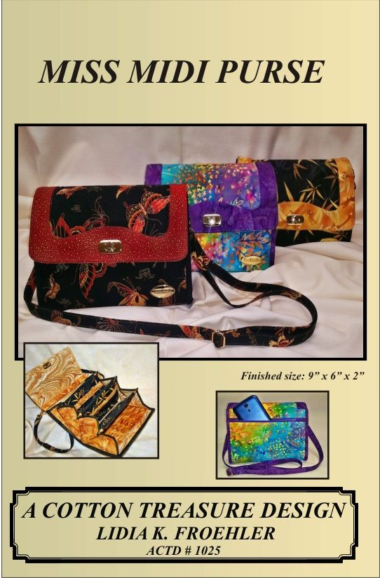ACTD-1025E Miss Midi Purse PDF DOWNLOAD FILE ONLY | Bags