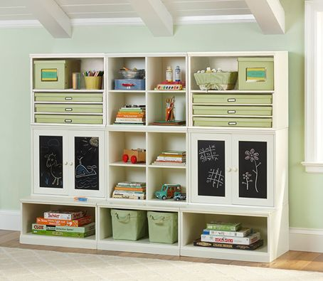 How about this stunning idea from Coricraft at The Grove for your children's bedroom! Store Crayons, socks, toys, diaper ointment and that growing rock collection. Neat and really attractive!