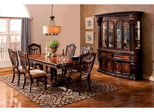 Delightful Make A Lasting Impression On Your Guests With This Stately Grand Estates  7 Piece Dining Set. Take One Look At The Inset Carvings Along The Perimeteu2026 Part 3