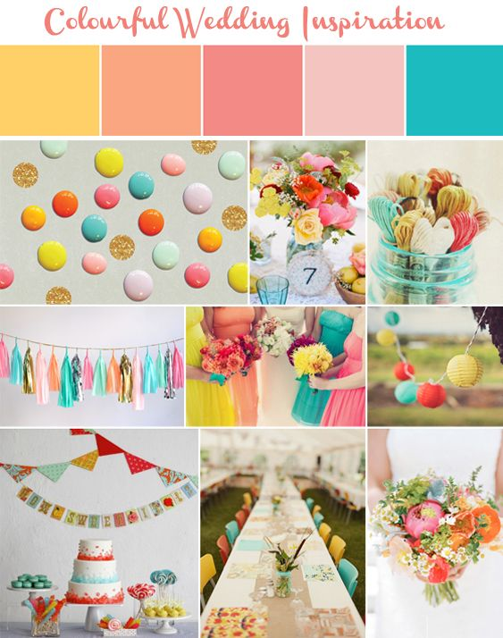 Turquoise And C Colourful Wedding Inspirations Love That I Had Most Of These