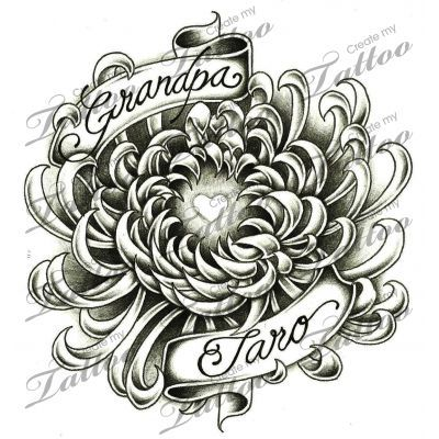 Chrysanthemum Tattoo Designs | Marketplace Tattoo Chrysanthemum memorial design #13987 | ... | Tatto ...