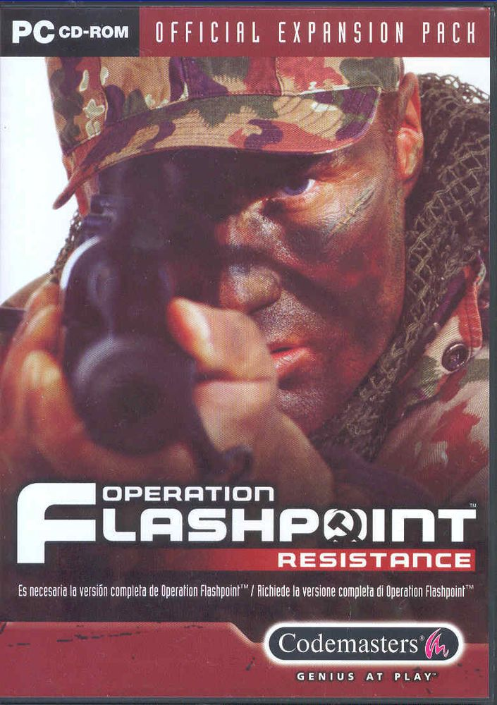 OPERATION FLASHPOINT resistance espansion  PC   NUOVO!!
