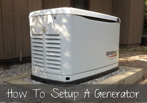 How To Set Up A Home Generator...http://homestead-and-survival.com/how-to-set-up-a-home-generator/