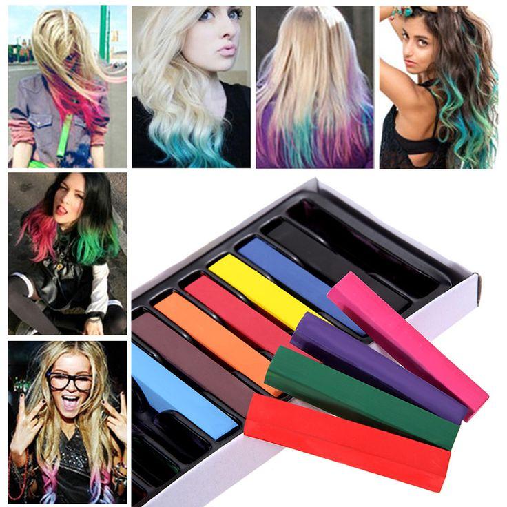 Professionele 1 Pak Set Haar Kleur Krijt Popupar Tijdelijke Haar Kleur Mooie Handig Super Haarverf Kleurpotloden