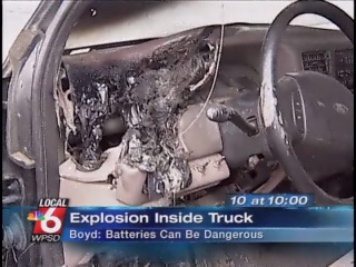 GPS explodes inside truck.  Every GPS owner probably should take note of this story.