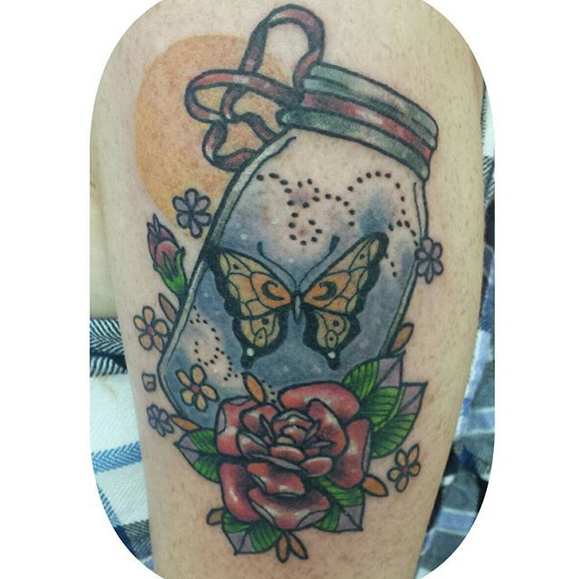136 Best Mason Jar Tattoos! Images On Pinterest