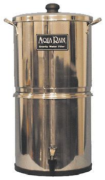 AquaRain, Water Filter - Gravity Driven, Lab-Proven, Stainless housing, Rain, Pond, Tap - Green Building Supply