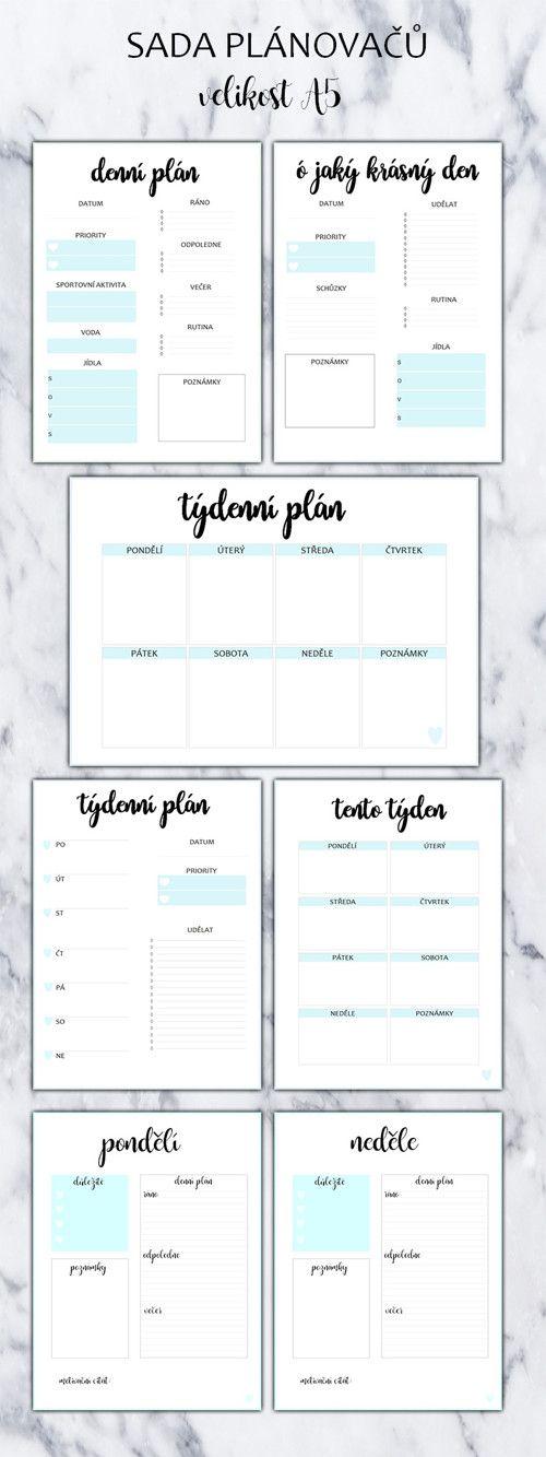 Sada - modrá #daily #planner #diary #diář #plánovací #plánovač  Chcete si hezky uspořádat svůj čas? Pak si objednejte tyto denní plánovače. S nimi zaručeně na nic nezapomenete.