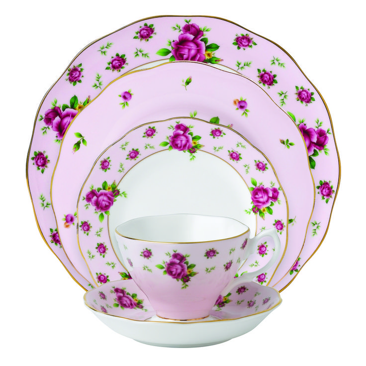 Royal Albert New Country Roses - Vintage Pink Formal 5-Piece Place Setting