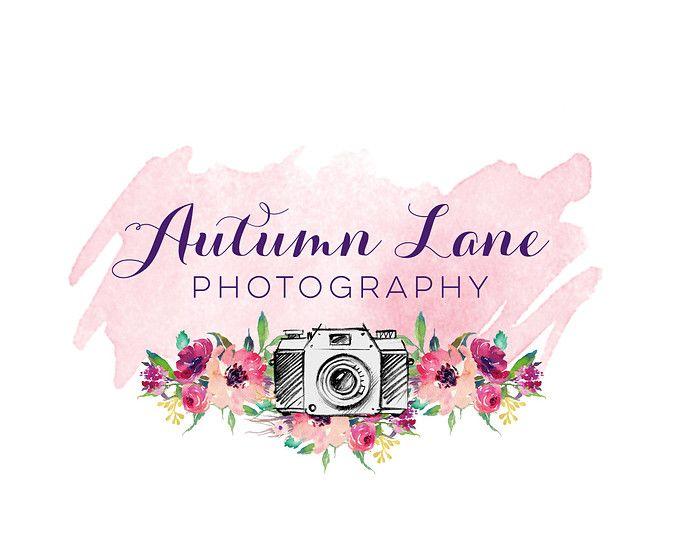 логотип фотографа акварель светится