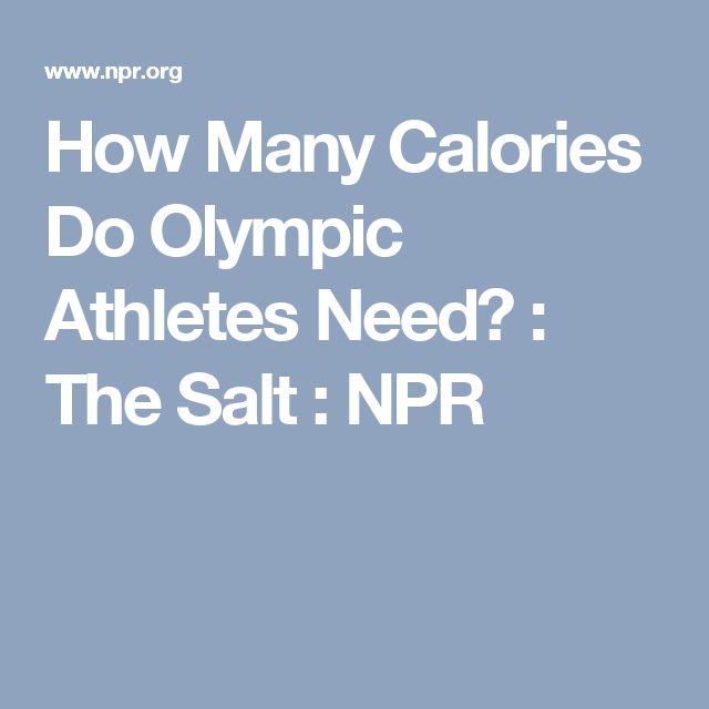 How Many Calories Do Olympic Athletes Need? : The Salt : NPR