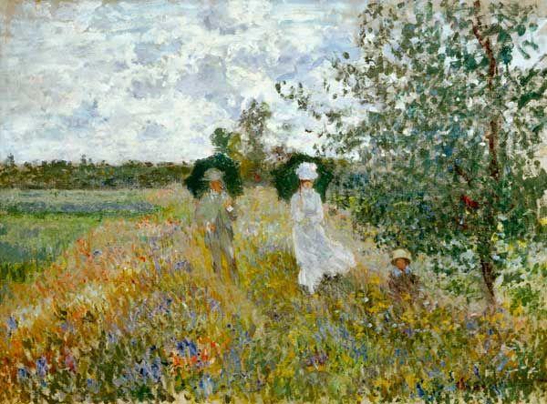 Claude Monet - Promenade near Argenteuil