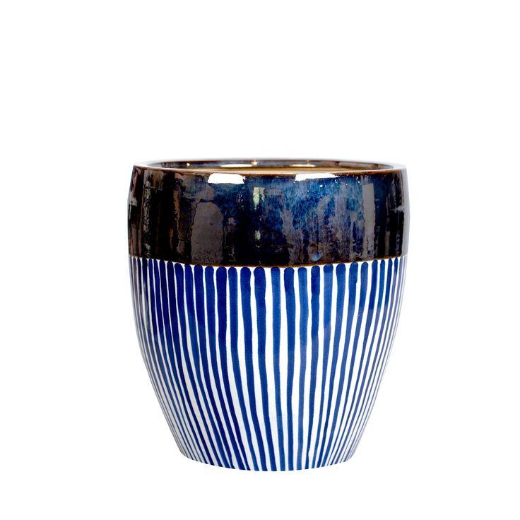 Ceramiczna doniczka A'pp M #doniczka #ceramiczna #ceramika #ceramics #pot #flowerpot #shine #gold #blue #unique #nowość #new #amiou #onemarket.pl