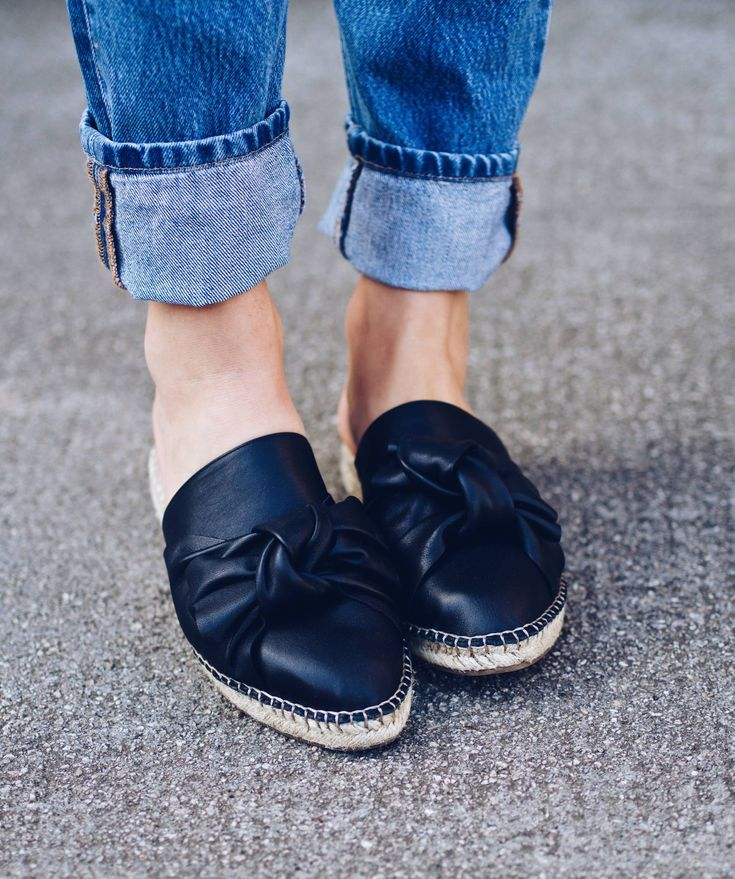 photo by @lafotka. Fashion devotees will go wild for KG Kurt Geiger's Niamh this season. Adorned with a supersized bow at the toe, this black slip-on sandal has a low 30mm espadrille-esque sole for casual summertime vibes. Slip on and go for easy everyday style.