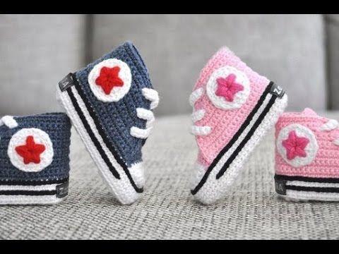▶ Babyschuhe häkeln – Turnschuhe – Sneakers - Teil 1 - Sohle by BerlinCrochet - YouTube
