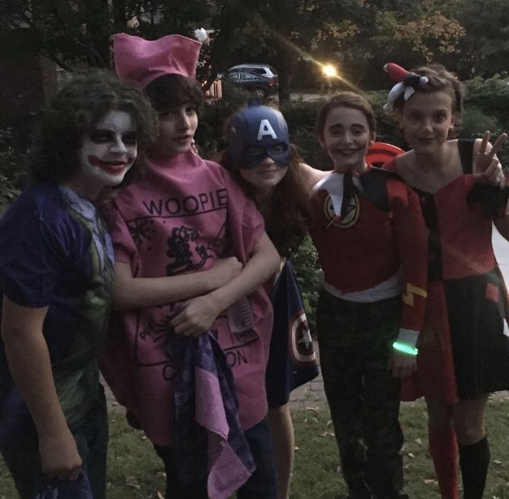 "Gaten, Finn, Sadie, Noah, and Millie - The ""Stranger Things"" kids celebrating Halloween 2016"