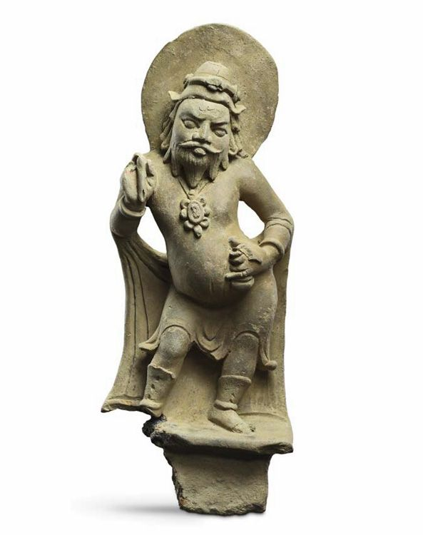 Pingala, attendant of Sûrya Gupta, East India 4th-5th century Terracotta Height: 40.7 cm