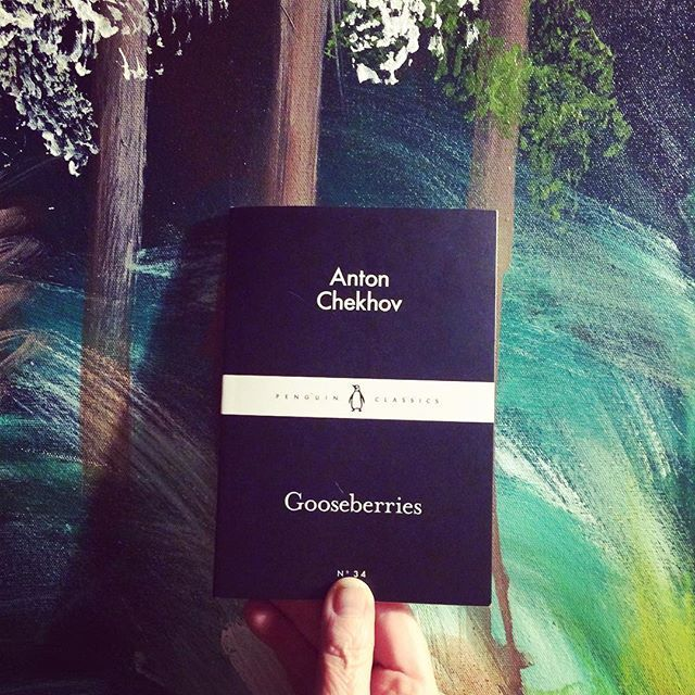 50/52: A book I own, but have never read: Anton Chekhov's Gooseberries. Chekhov is very talented when it comes to shot stories. He infuses so much life in even the shortest of stories. I quite liked all three stories. This also featured The Kiss and The Two Volodyas
