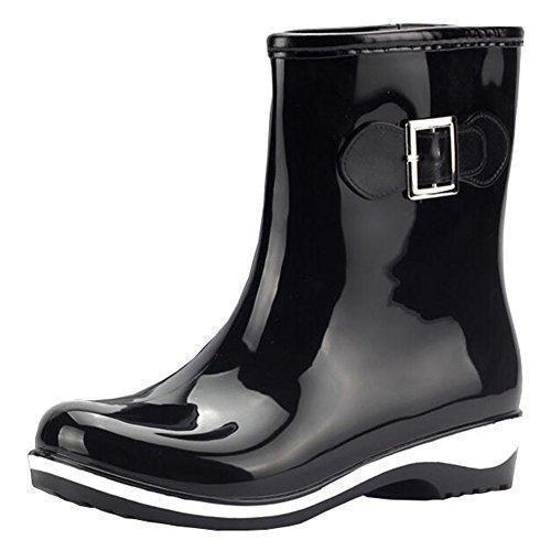 Oferta: 21.99€. Comprar Ofertas de Mujeres botas de lluvia de las señoras se deslizan en Baja Wellington Botas de agua Botas de goma Negro 39EU barato. ¡Mira las ofertas!