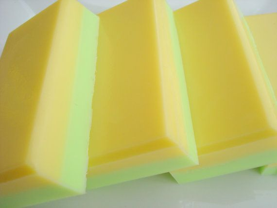 Lemon Lime Soap For Men, Green and Yellow Soap, Homemade Soap, Bar Soap, Shea Butter Soap, Citrus Soap by HoookedSoap, $5.00