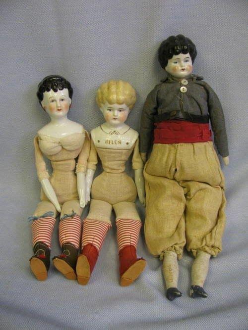 tantelina - Маленькие фарфоровые куклы с телами из ткани