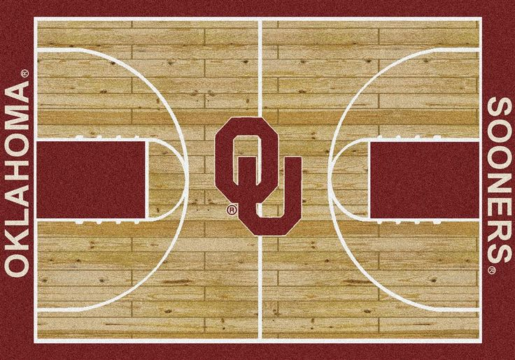 University Of Oklahoma Sooners Basketball Court Rug