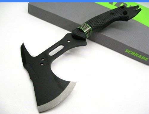 Camping Hatchets and Axes 75234: Schrade Black Sk5 Tactical Hatchet Survival Axe Nail Pull Pry + Sheath! Scaxe5 BUY IT NOW ONLY: $61.78