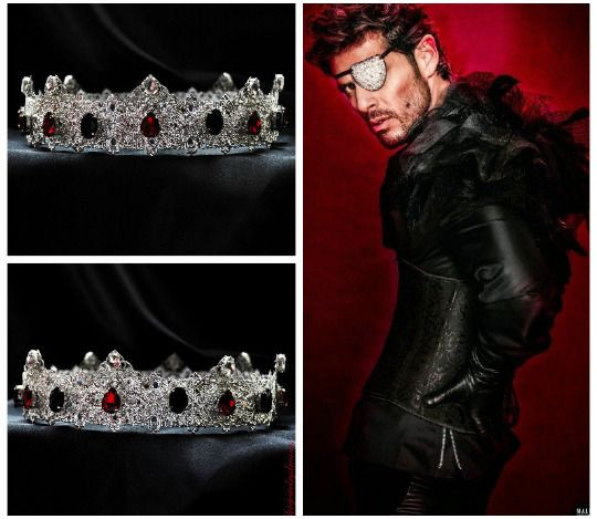 Silver Male Crown Red Mens Crown Men's Pageant Imperial Medieval King Crown #Handmade #HatsHeadwear
