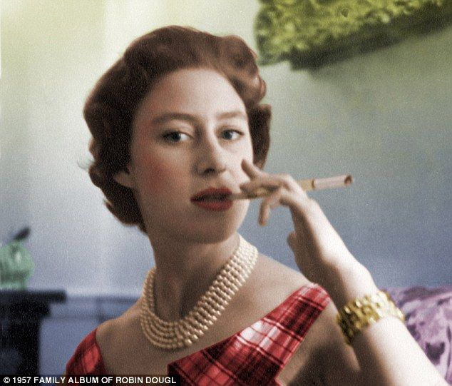 Living the life: Princess Margaret, pictured, was well known for her hedonistic lifestyle and a string of lovers