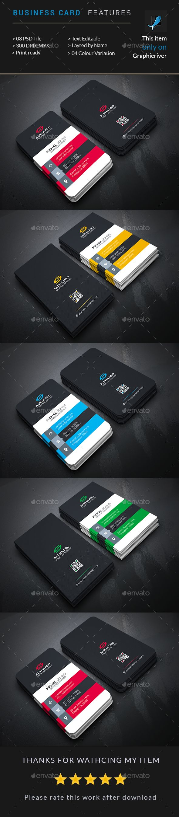 Business Card — Photoshop PSD #personal #elegant • Available here → https://graphicriver.net/item/business-card/17673947?ref=pxcr