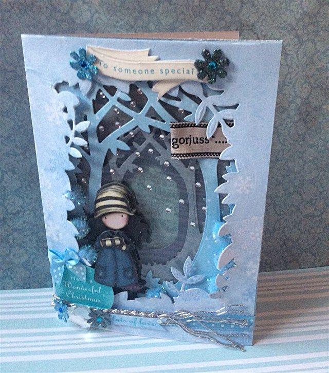 Santoro's gorjuss gets festive in this wintery 3D Shadow Box Christmas card