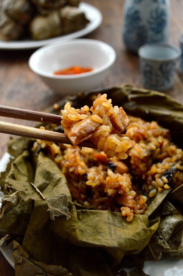 Lo Mai Gai - Dim sum sticky rice baked in lotus leaf