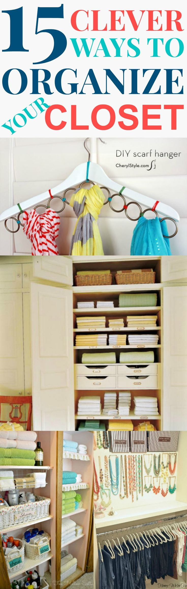 15 closet organization tips and tricks to help your to organize your closet and be clutter free.