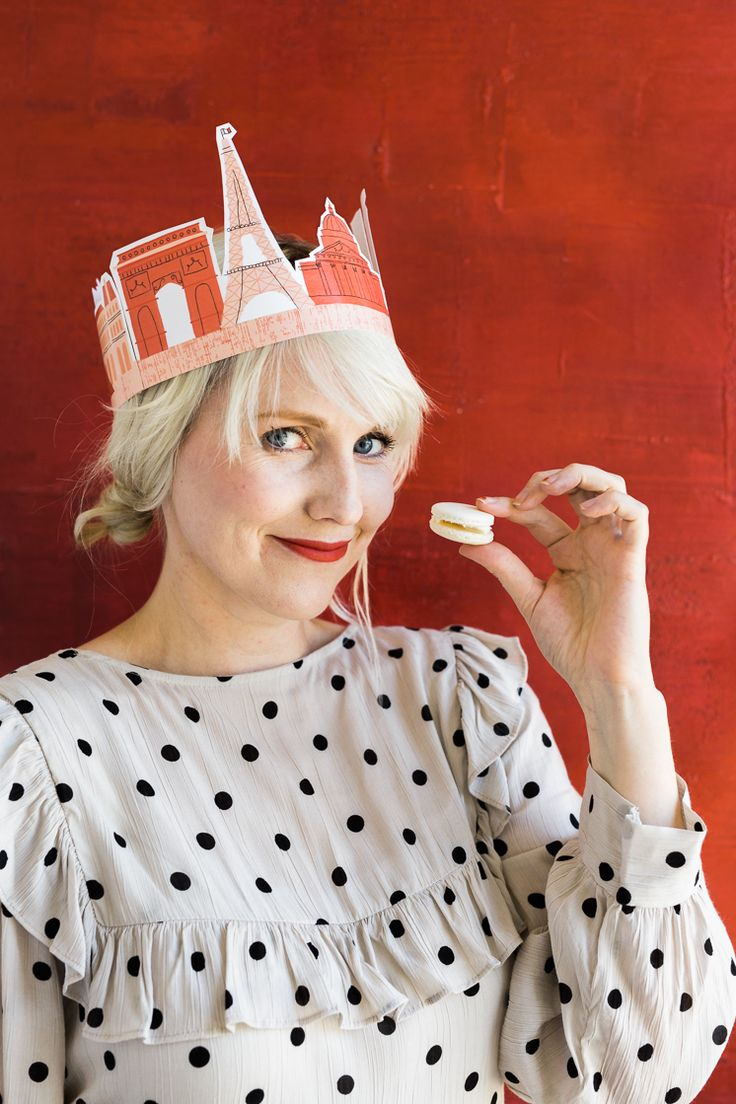 Having a Paris party? Glam it up with our printable free Paris crown!