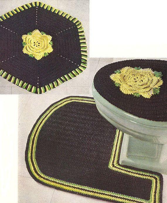 Juegos De Baño Gabys:Bathroom Set Crochet Pattern
