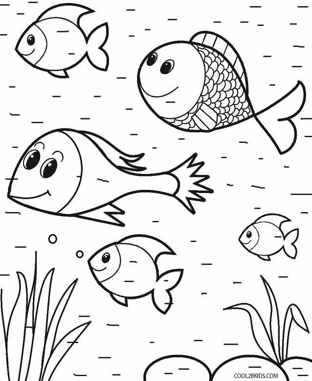 Animal Coloring Page For Kid Printable Toddler Coloring Pages For Kids  Farm Animal Coloring Pages, Fish Coloring Page, Lion Coloring Pages