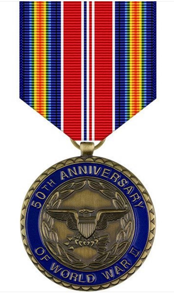 World War II 50th Anniversary Commemorative Medal