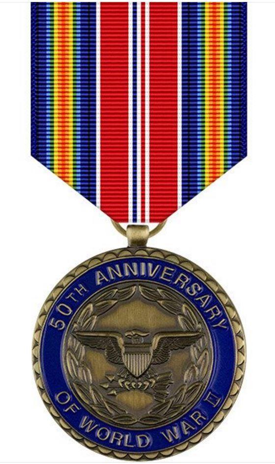 World War II 50th Anniversary Commemorative Medal