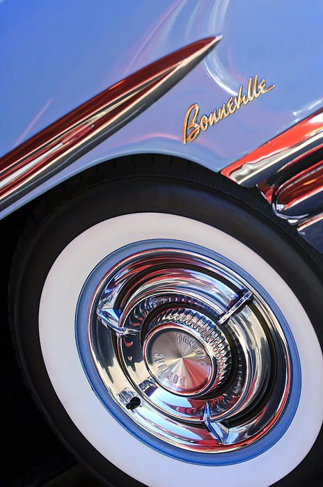 1958 Pontiac Bonneville Wheel Emblem Photograph by Jill Reger - 1958 Pontiac Bonneville Wheel Emblem Fine Art Prints and Posters for Sale