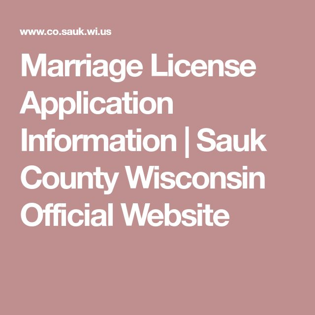 marriage license application information | sauk county wisconsin