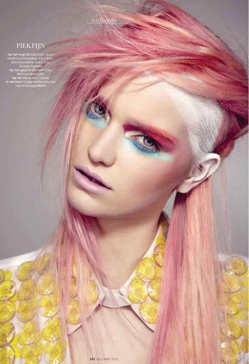 (love this cotton candy pink - p.mcn.) Hair Punk 2012