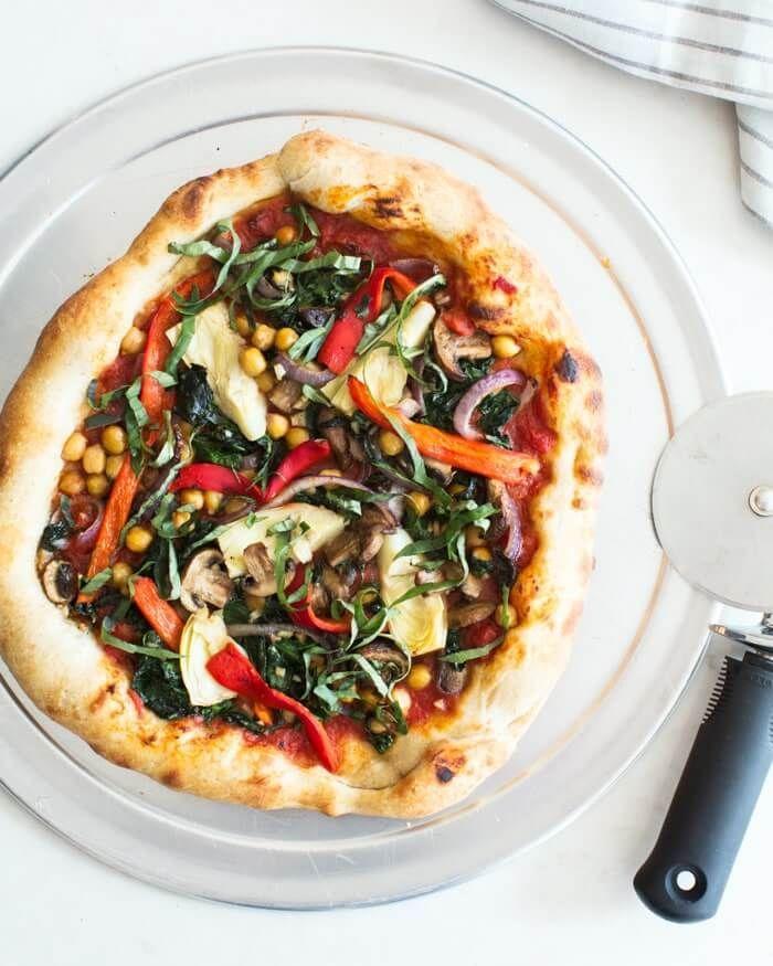 Best Homemade Vegan Pizza A Couple Cooks Recipe Vegan Pizza Recipe Vegan Dinners Veggie Pizza