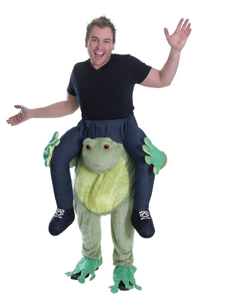Carry Me Ranocchia: Abito di Carnevale composto da un pantalone sul quale é cucito il pupazzo di una ranocchia .Il pantalone verde é di tessuto morbido per rendere la ranocchia simile ad un vero...