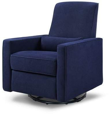 Davinci Baby Piper Recliner And Swivel Glider In Navy
