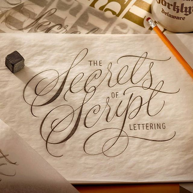 The secrets of script lettering ✨ . From a beautiful lettering piece by @typelettering __ ✔Featured by @thedailytype #thedailytype ✒Learning stuffs via: www.learntype.today __