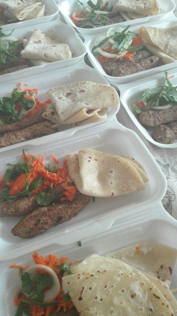 Sish kebab & Roti
