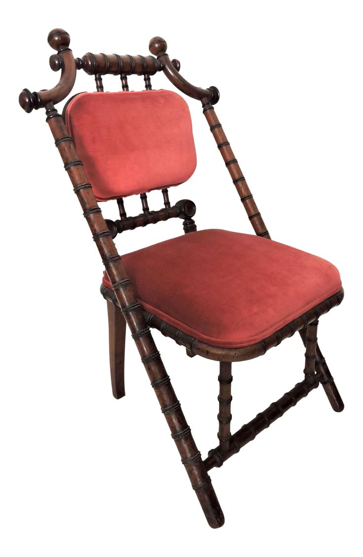 George Hunzinger Faux Bamboo Side Chair (1869) on Chairish.com Please feel free o contact us directly if we can assist. #Hunzinger #Fauxbamboo #Chair