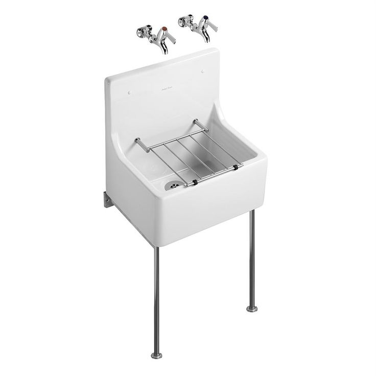 S5900 - Alder sink 51 x 31cm high back and fitted stainless steel bucket grating